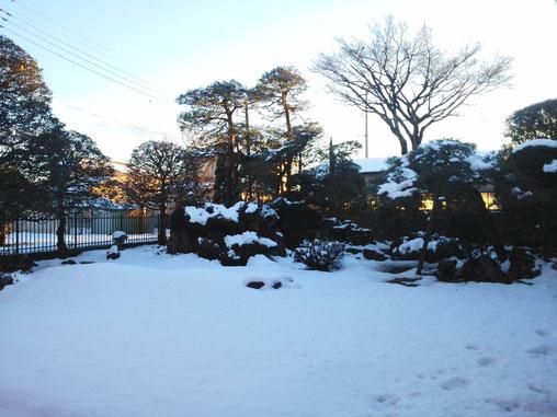 田村工業所事務所前 大雪です