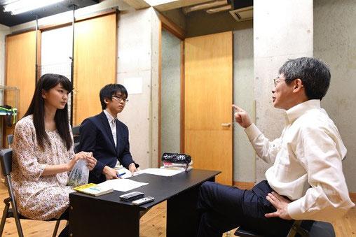 左から 堀春菜さん、小坂真琴くん、平田さん