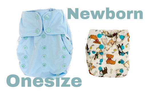 Neugeborene mit Stoffwindeln wickeln. Welche Stoffwindelgrösse für Neugeborene?