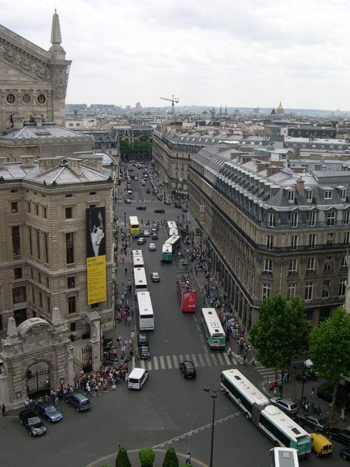 Blick von den Galeries Lafayette Paris