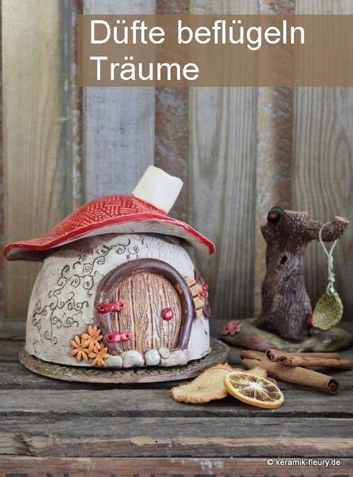 Keramik Räucherhäuschen