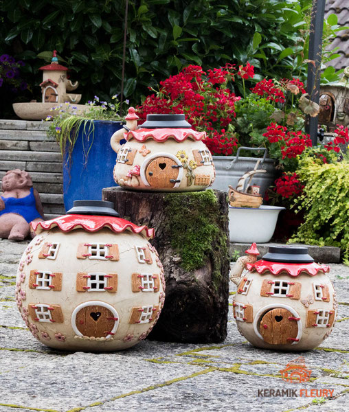 Keramik Gartenkugel