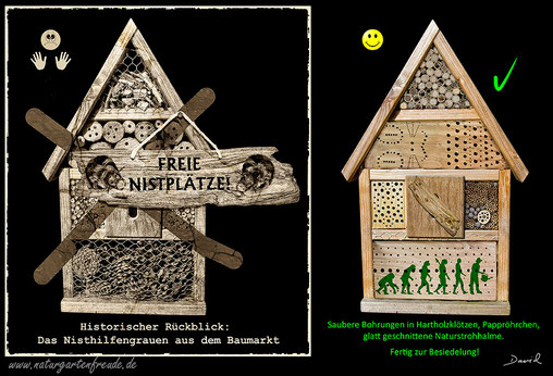 k ufliche insektennisthilfen wildbienenschutz im naturgarten. Black Bedroom Furniture Sets. Home Design Ideas