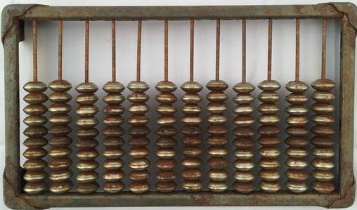 """Ábaco ruso """"schoty"""", 12 columnas de 10 bolas cada una metal, 22x13 cm,"""