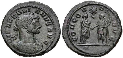 Aurélien adorateur de Sol Invictus proclame le 25 décembre jour de naissance de Sol Invictus, et impose Sol Invictus comme le dieu officiel de l'Empire romain.