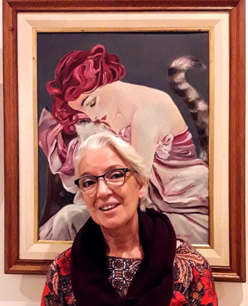 Exposición de dibujo y pintura contemporánea. Adriana Gutiérrez agatadeargentina