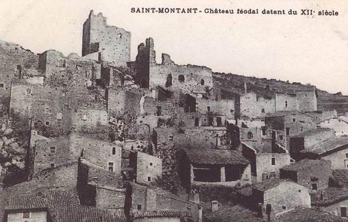 Die alte Postkarte zeigt den Zustand vor dem Wiederaufbau und der Restaurierung