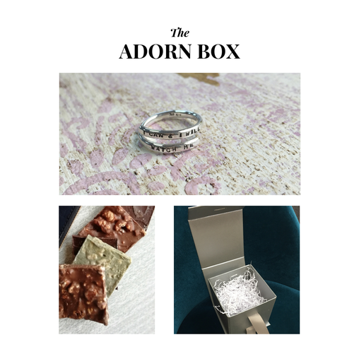 The Adorn Box, Silver Lyric Ring & Abaisse Chocolatier Tasters, The Northern Gift Box