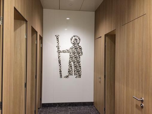 Sankt Fridolin auf der Damentoilette? ...
