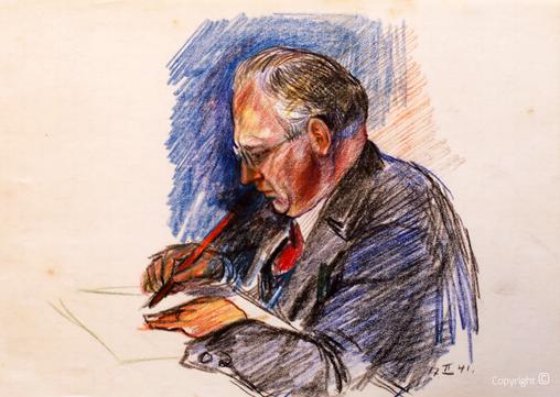 Erwin Bowien (1899-1972): Werkverzeichnis N° 193 - Hanns Heinen im Kreuzthal, 1944