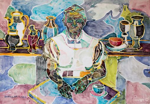 Bettina Heinen-Ayech (1937-2020) - Erna Heinen-Steinhoff als guter Geist der Künstlerkolonie, 1955