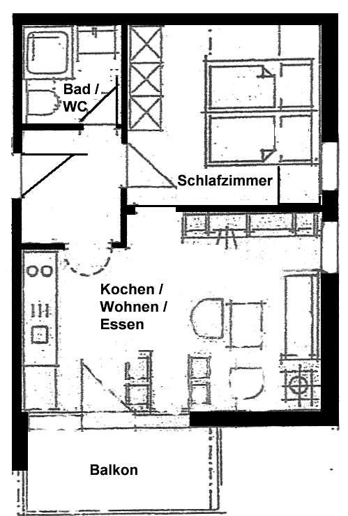 Wertach-Ferienwohnungen.de  Grundriss Ferienwohnung Bärenhöhle