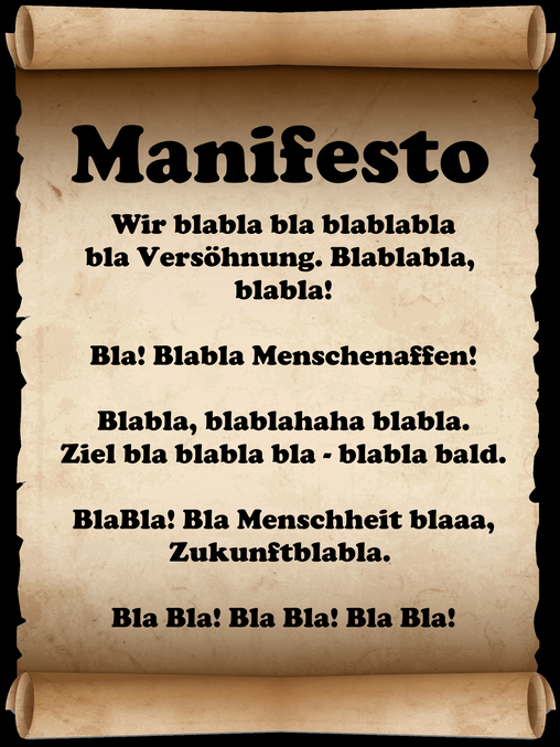 Fauntleroy Manifesto Manifest Grafikprogramm