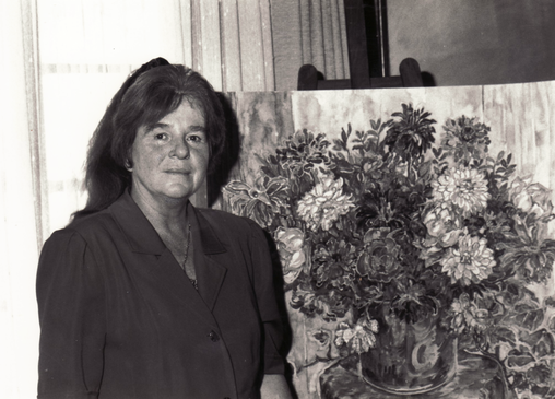 "Bettina in the Solingen studio in the ""Black House"", 1992"