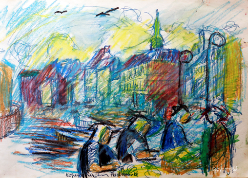 Der Fischmarkt in Kopenhagen, 1955