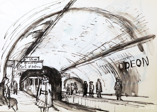Bettina Heinen-Ayech (1937-2020): Die Metro in Paris, 1962