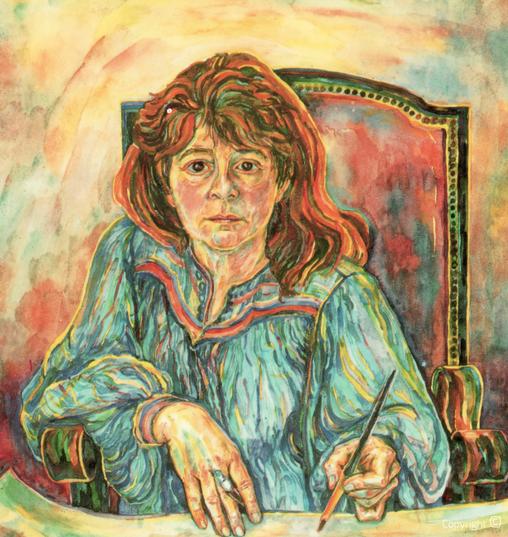 Bettina Heinen-Ayech (1937-2020): Self-Portrait, 1991