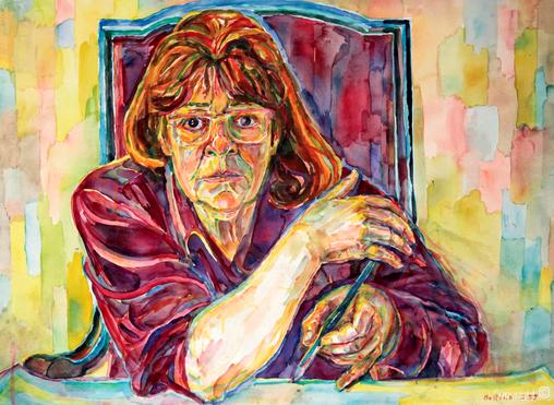 Bettina Heinen-Ayech (1937-2020): Selbstbildnis, 1999