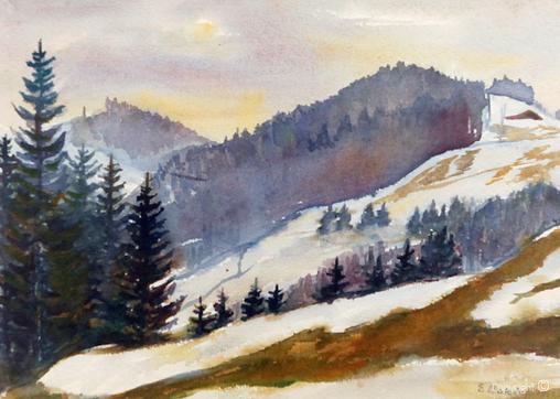 Erwin Bowien (1899-1972) Werkverzeichnis N° 1843 - Landschaft bei Kreuzthal-Eisenbach