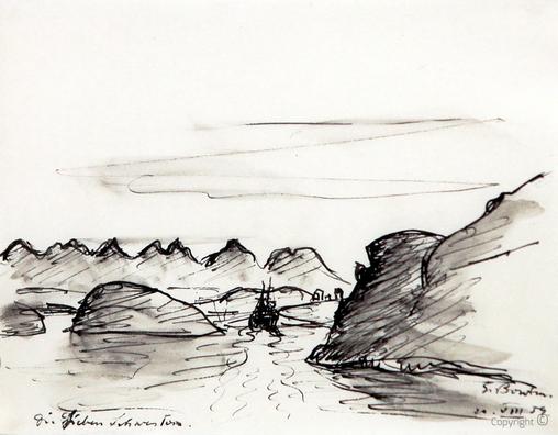 Erwin Bowien ( 1899-1972): Im Meer vor der Insel Alsten, 1959