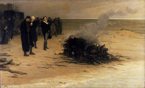 """The Funeral of Shelley"" by Louis Édouard Fournier (1889)"