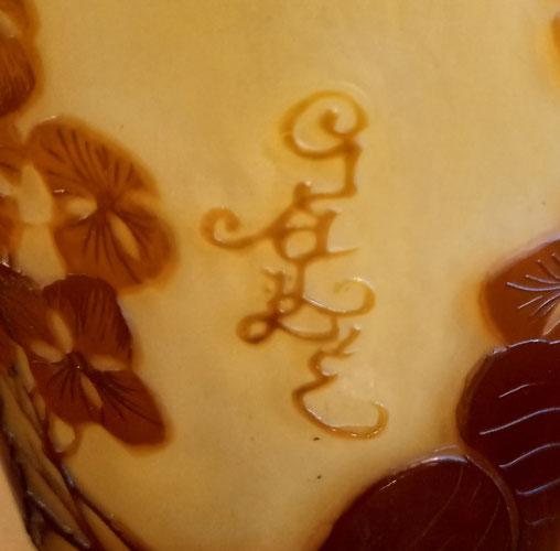 Gallé, établissements Gallé, Daum, Daum frères, Emile Gallé, Jugendstyl, art-nouveau, 1900, pâte de verre, gravé à l'acide, Gallé, Gallé, Gallé