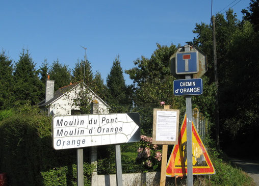 signalisation moulin d'Orange