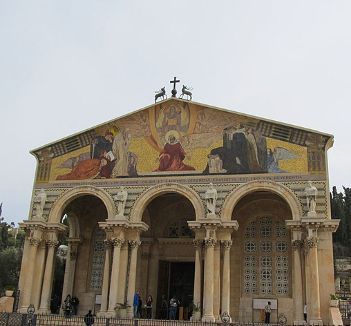 The mosaic of agony of Christ, Professor Gulio Belini
