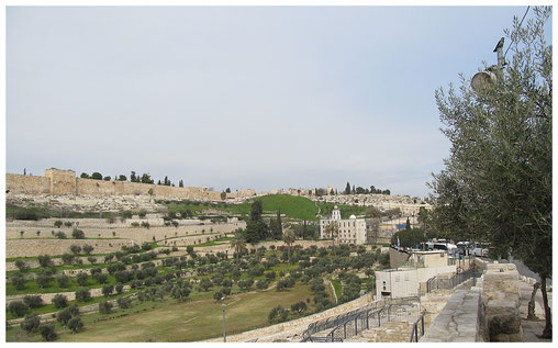 View of Kidron Valley and St. Steven Monastery