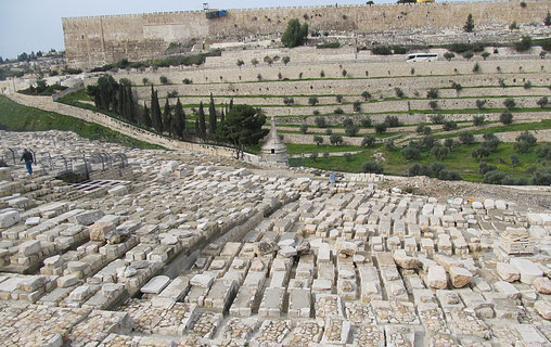 The Jewish cemetery on the slopes of Mt. of Olives