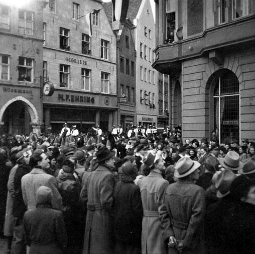 Etwa 1950 oder 1951 -  Rothenburg - Ecke Königstraße