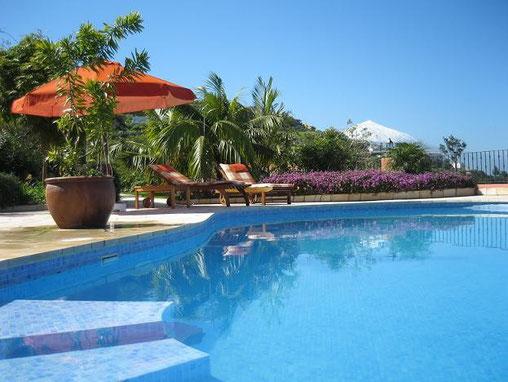 Ferienwohnung auf exclusiven Villenanwesen mit Pool für Familienurlaub auf teneriffa in El Sauzal