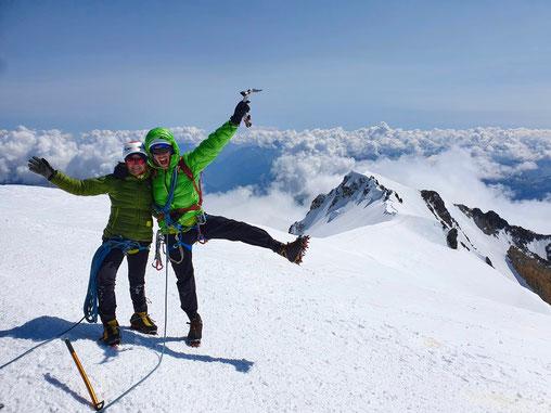Hochtouren, Mont Blanc, Courmayeur, Chamonix, Mont Blan, Mont Maudit Kuffner, Kuffnergrat, Küffnergrat, Arete de la Brenva