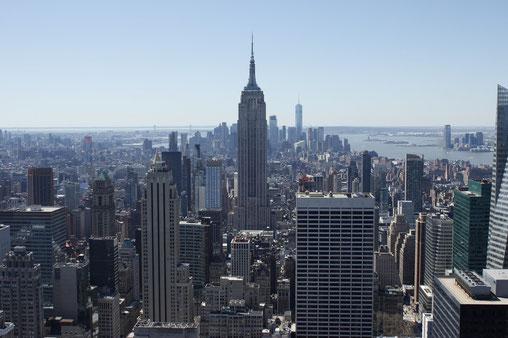 New York from above from Rockefeller Center