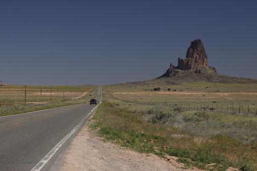 Straße kurz vor Monument Valley
