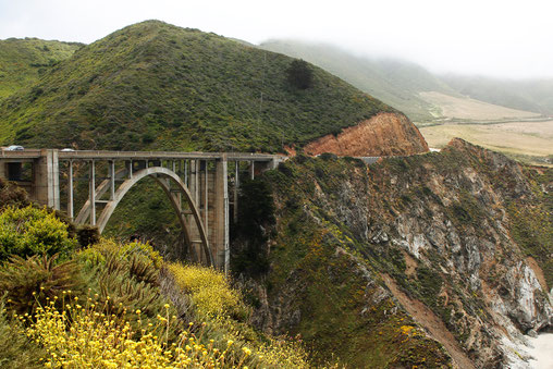 Road Trip auf dem Highway 1 in Kalifornien - Bixby Creek Bridge