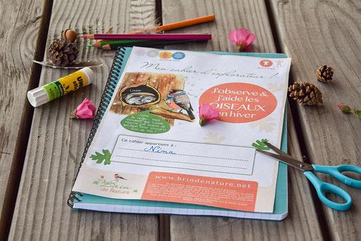 Cahier, nature, jeux, enfants, ludique, oiseaux, coloriages, nichoirs