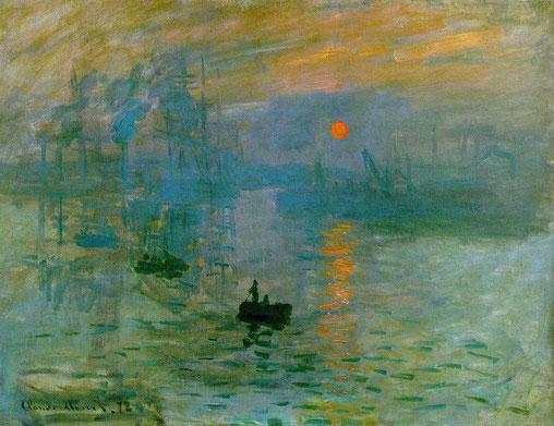 Impression soleil levant, C. Monet (1872)