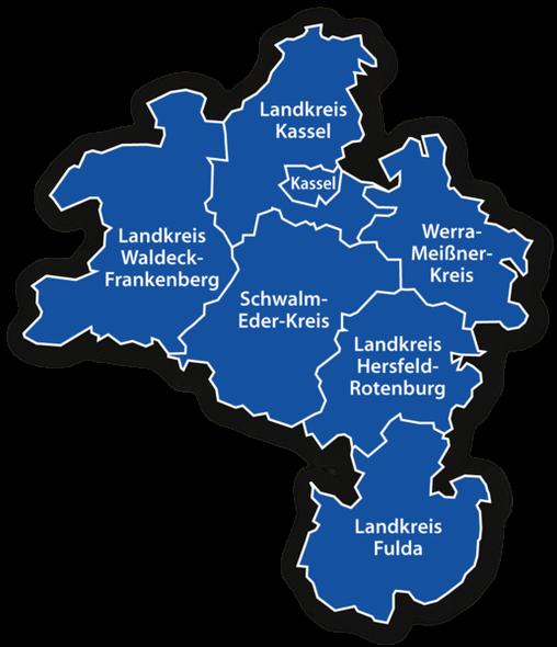 Landkreise der Fussballvereine in Nordhessen