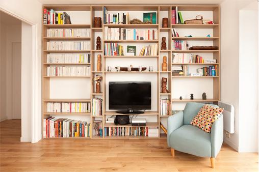 Bibliotheque Mobibam - Meubles sur mesure eco-responsables et fabriqués en France