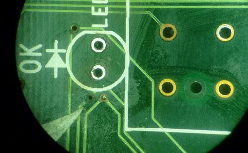給油機基板 断線箇所1