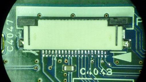 スイッチ基板 基板BとコネクタAの実装1