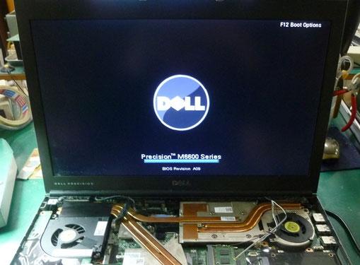 DELL PrecisionM6600 修理後の画面表示
