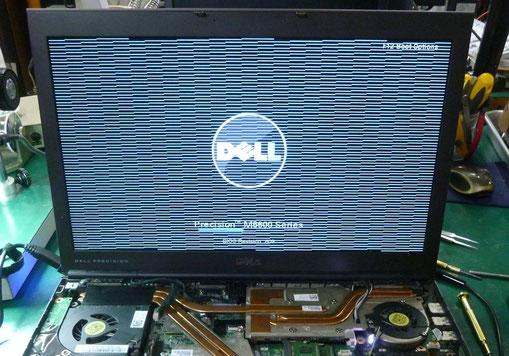 GPU半田クラックによる画面表示不良