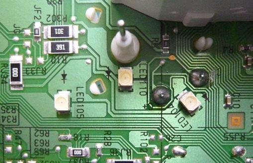 車 メータ 基板 LED交換前