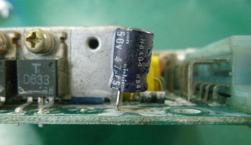 車載 ECU基板 電解コンデンサ不良