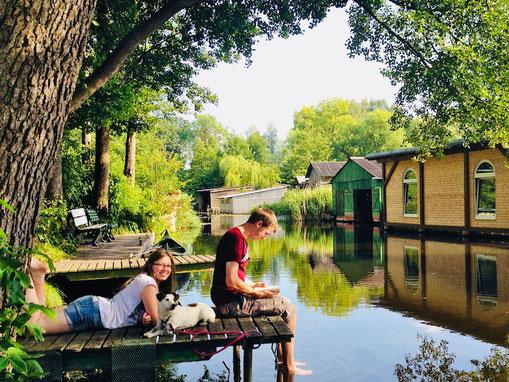 Urlaub Drewensee, Alte Havel, Stege, Ferienhaus