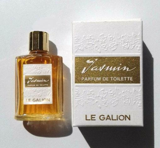 JASMIN - PARFUM DE TOILETTE 9 ML : PRESENTATION DIFFERENTE, LA MINIATURE PORTE UN BOUCHON DORE EN PLASTIQUE