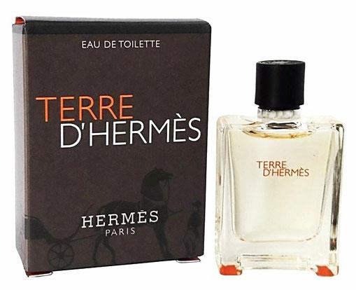 2006 - TERRE D'HERMES : EAU DE TOILETTE HOMME, 7,5 ML - BOÎTE DIFFERENTE