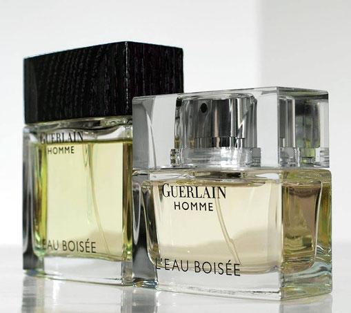 GUERLAIN HOMME : L'EAU BOISEE - 2 FLACONS DIFFERENTS